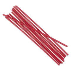 "Boardwalk® Unwrapped Single-Tube Stir-Straws, 5 1/4"", Red, 1000/Pack BWKSTRU525R10PK"