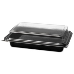 SOLO® Cup Company Creative Carryouts® Hinged Plastic Hot Deli Boxes Thumbnail
