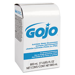GOJO® Lotion Skin Cleanser Refill, Liquid, Floral, 800 mL Bag, 12/Carton
