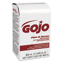 GOJO® Pink and Klean Skin Cleanser 800 mL Dispenser Refill, Floral, 12/Carton