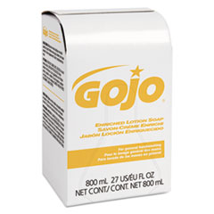 GOJO® Enriched Lotion Soap Bag-in-Box Dispenser Refill, Herbal Floral, 800 mL