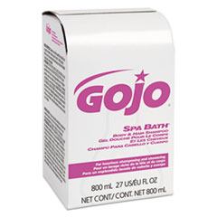 GOJO® Spa Bath Body and Hair Shampoo, Pleasant, 800mL Bag-in-Box Refill, 12/Carton