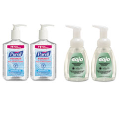 PURELL® Advanced Hand Sanitizer/Hand Soap Kit, 8 oz Sanitizer, 7.5oz Cleanser, 4/Carton