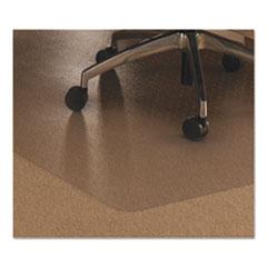 Cleartex Ultimat Polycarbonate Chair Mat for Low/Medium Pile Carpet, 48 x 53