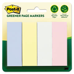 Greener Page Flags, Pastel, 50 Strips/Pad, 4 Pads/Pack