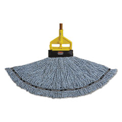 Rubbermaid® Commercial Maximizer Blended Mop Heads, Large, Blue, 6/Carton