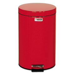 "Rubbermaid® Commercial Defenders Medical Step Can, Round, Red, 3.5 gal, 11"" Dia, 17""H"