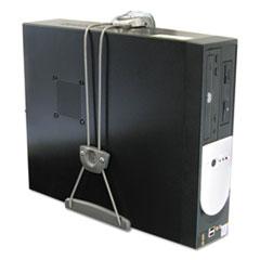Ergotron® Universal CPU Holder, 2 5/8 to 8 1/2w x 9 1/2 to 18h, Silver