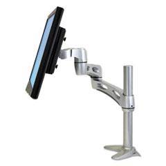 Ergotron® Neo-Flex Extend LCD Arm, 2 x 4 3/4 to 23 1/8 x 11 7/8, Silver