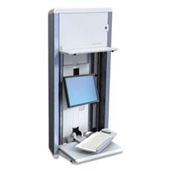Ergotron® StyleView VL Enclosure, 27.25w x 6.75d x 60.63h, White/Aluminum