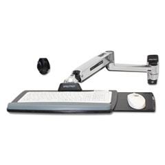 Ergotron® LX Sit-Stand Wall Mount Keyboard Arm, 18.38 x 8.88, Polished Aluminum