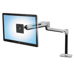 Ergotron® LX Sit-Stand Workstation Mount LCD Arm, Polished Aluminum