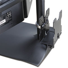 Ergotron® Thin Client Mount, 4 to 9w x 0.88 to 2.38d x 6.88h, Black