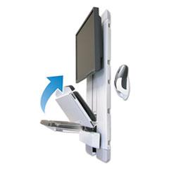 Ergotron® Vertical Lift Auto-Retracting Keyboard Kit, 17w x 6d, Black/White/Gray