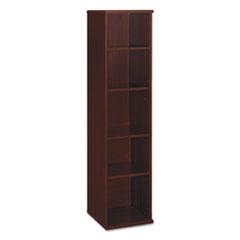 Series C Collection 18W 5 Shelf Bookcase, Mahogany