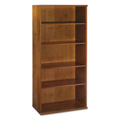 Series C Collection 36W 5 Shelf Bookcase, Natural Cherry