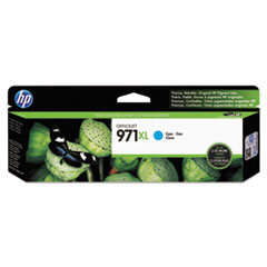 HP HP 971XL, (CN626AM) High Yield Cyan Original Ink Cartridge HEWCN626AM