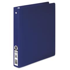 "ACCO ACCOHIDE Poly Round Ring Binder, 35-pt. Cover, 1"" Cap, Dark Blue"