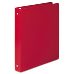 """ACCO ACCOHIDE Poly Round Ring Binder, 35-pt. Cover, 1"""" Cap, Executive Red"""