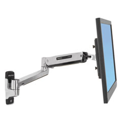 Ergotron® LX Sit-Stand Wall Mount LCD Arm, Polished Aluminum