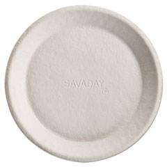 "Chinet® Savaday Molded Fiber Plates, 10"", Cream, Round, 500/Carton"