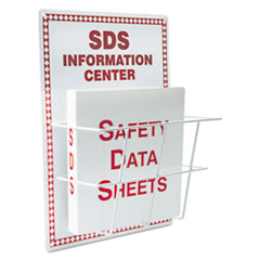 LabelMaster® SDS Information Center, 15 x 20, White/Red LMTHZRS407