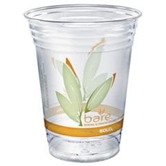Dart® Bare Eco-Forward RPET Cold Cups, 16-18 oz, Clear, 50/Pack