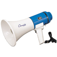 Champion Sports Megaphone, 12-25W, 1000 Yard Range, White/Blue CSIMP12W