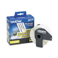 """Brother Die-Cut Address Labels, 1.1"""" x 3.5"""", White, 400/Roll"""