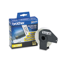 "Brother Die-Cut File Folder Labels, 0.66"" x 3.4"", White, 300/Roll"