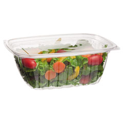 Eco-Products® Renewable and Compostable Rectangular Deli Containers, 32 oz, 50/Pack, 4 Packs/Carton