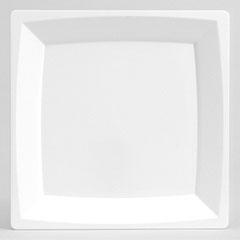 WNA Milan Plastic Dinnerware, Plate, 8.25 in sq, Plastic, White