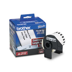 "Brother Continuous Film Label Tape, 2.4"" x 50 ft Roll, Clear"