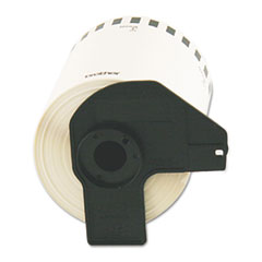 "Brother Continuous Length Shipping Label Tape for QL-1050, 4"" x 100 ft Roll, White"