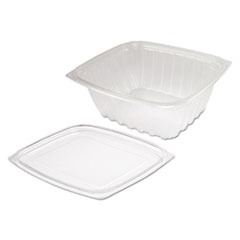 Dart® ClearPac Clear Container Lid Combo-Pack, 32 oz, 6.5 x 7.5 x 2.7, Clear, 63/Pack, 4 Packs/Carton