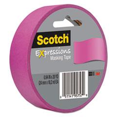 """Scotch® Expressions Masking Tape, 3"""" Core, 0.94"""" x 20 yds, Fuchsia"""