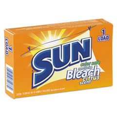 SUN® Color Safe Powder Bleach, Vend Pack, 1 load Box, 100/Carton