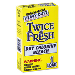 Twice as Fresh® Heavy Duty Coin-Vend Powdered Chlorine Bleach, 1 load, 100/Carton