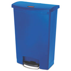 Rubbermaid® Commercial Slim Jim Resin Step-On Container, Front Step Style, 24 gal, Blue