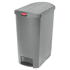 Rubbermaid® Commercial Slim Jim Resin Step-On Container, End Step Style, 24 gal, Gray