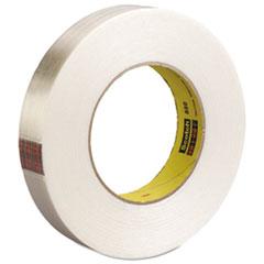 """Scotch® High-Strength Filament Tape, Rubber, 24mm x 55m, 3"""" Core, Clear"""