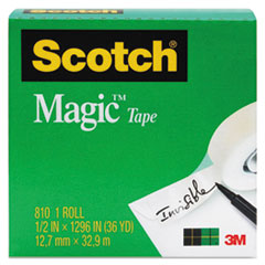 "Magic Tape Refill, 3/4"" x 1296"", 1"" Core, Clear"
