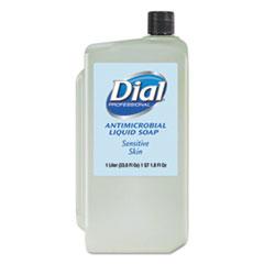 Dial® Professional Antimicrobial Soap for Sensitive Skin, Floral, 1 L Refill, 8/Carton