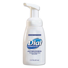 Dial® Professional Antimicrobial Foaming Hand Wash, 7.5 oz Tabletop Pump, 12/Carton