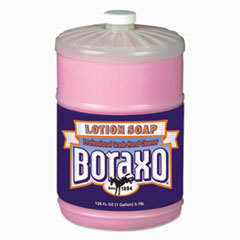 Boraxo® Liquid Lotion Soap, Pink, Floral Fragrance, 1 gal Bottle, 4/Carton