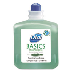 Dial® Professional Basics Foaming Hand Wash, Refill, 1000mL, Honeysuckle, 6/Carton