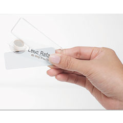 The Mighty Badge™ Inkjet Name Badge Insert Sheets, 1 x 3, Clear, 20/Sheet, 5 Sheets/Pack