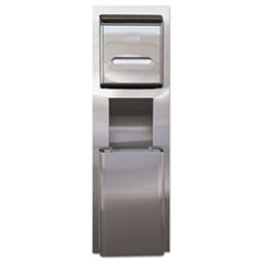 Kimberly-Clark Professional* MOD Stainless Steel Recessed Wall Unit with Trash Receptacle, 11 x 4.5 x 54.5