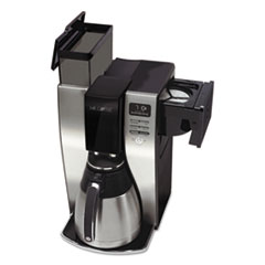 Mr. Coffee® Optimal Brew 10-Cup Thermal Programmable Coffeemaker, Black/Brushed Silver