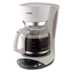 Mr. Coffee® 12-Cup Programmable Coffeemaker, White MFEDWX20RB